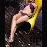 Maillot de bain : Bikini mauve top croisé