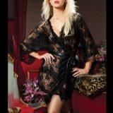 Kimono en dentelle noire