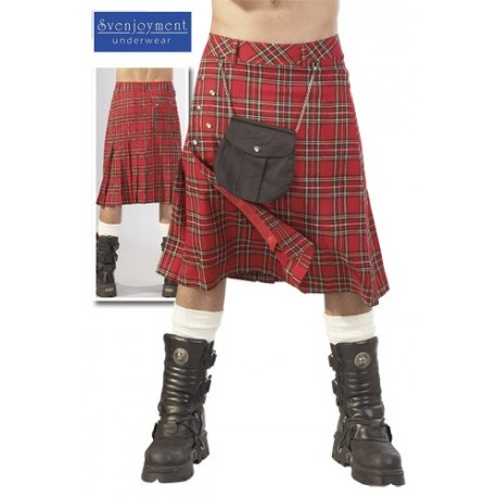 Kilt écossais pour homme avec besace