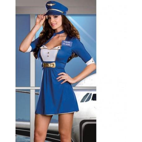 Costume d'hôtesse de l'air Stewardess sexy !