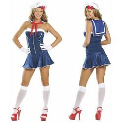 Costume bustier de marin, matelote sexy femme