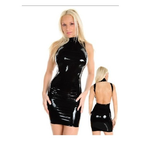 Robe en latex dos nu ultra moulante