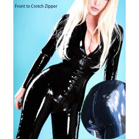 Catsuit Combinaison en latex zippée avec corset