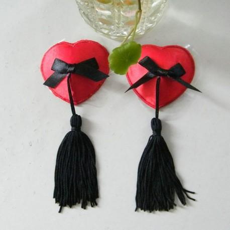 Cache-Téton - Nippies - Coeur en strass avec pompon