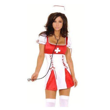 Robe moulante d'infirmière avec coiffe