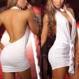 Robe blanche actor studio - extra dos nue