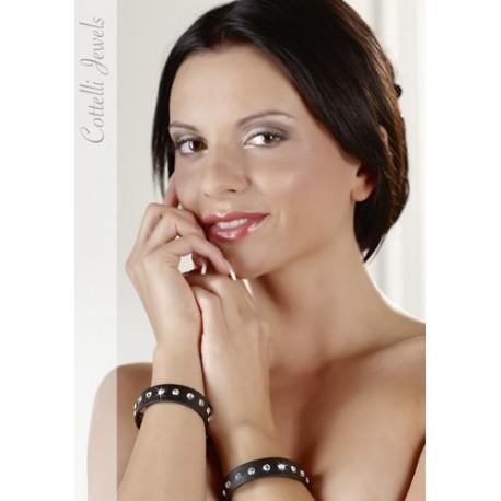 Bracelets style cuir BDSM à clous rivets