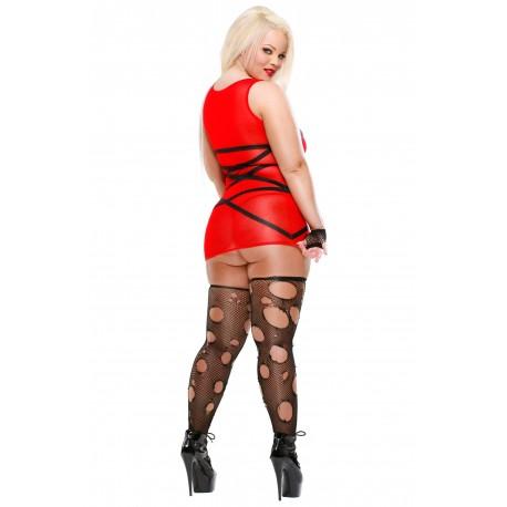 Material Girl : Robe rouge, Bas et gants