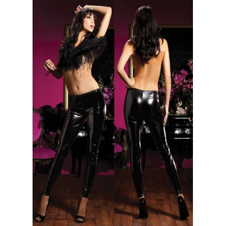 Leggings Collant style latex brillant & moulant