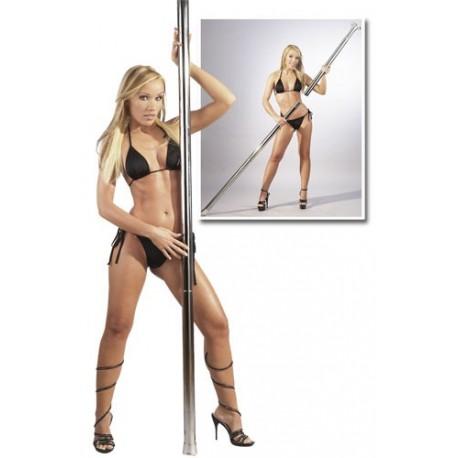 Barre pole dance chromé amovible
