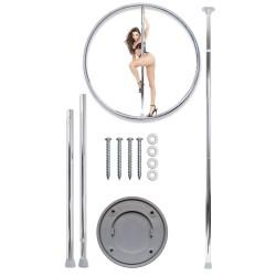 Kit barre de pole dance : Pro à visser, amovible