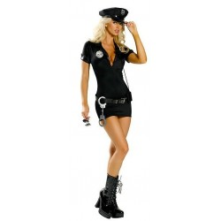 Costume : Robe moulante police sexy