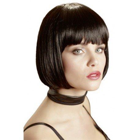 Perruque sexy : Carré Frange noir - Dominatrice