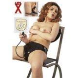 Culotte en latex - Double godes anal et vaginal gonflable pour femme