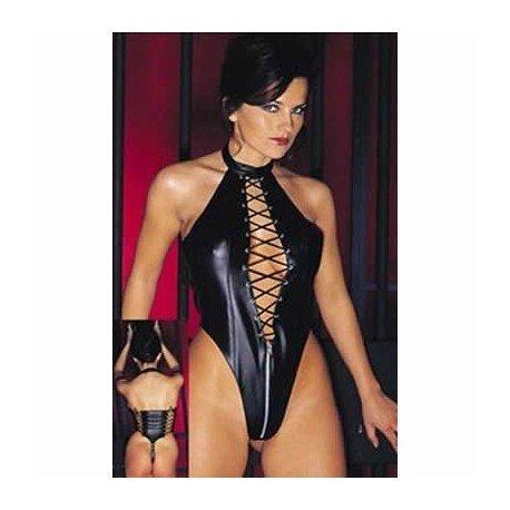 Body queen vinyl wetlook - string & dos nu