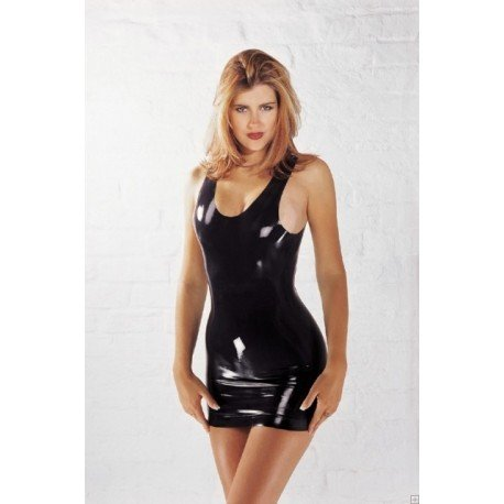Robe courte moulante femme - 100% pure latex