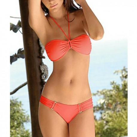 Maillot de bain : Bikini orange sensuel