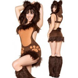Costume Déguisement Petite oursonne sexy