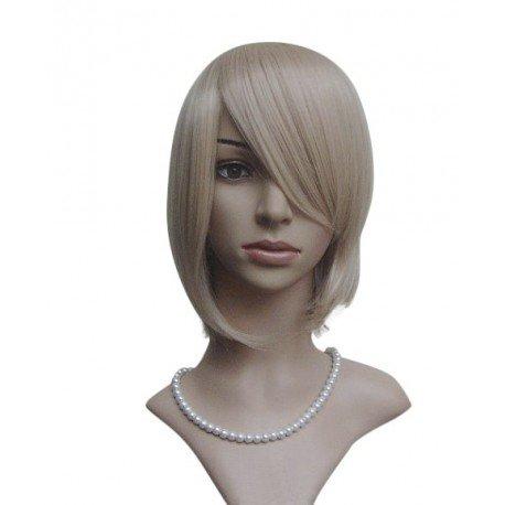Perruque sexy : Coupe mi-longue blonde à frange