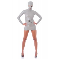 Robe Zentai latex grise James Bond Girl