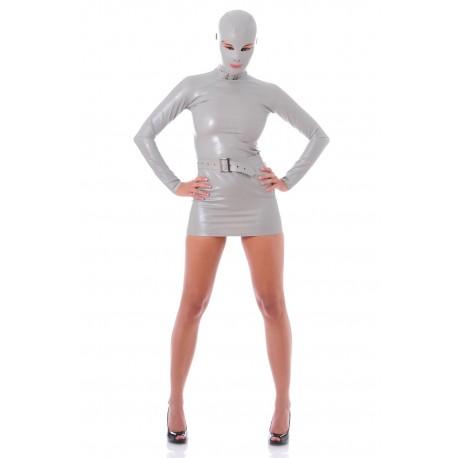 Robe Zentai latex grise James Bond Girl