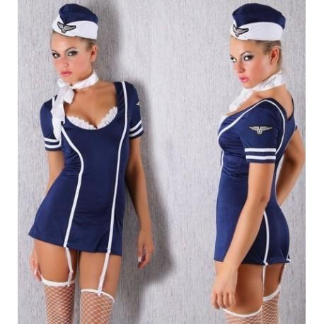Costume Hotesse de l'air Sexy Steward