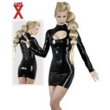 Robe moulante - Latex brillant décolletée
