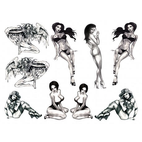 Tatouages Temporaires Sexy - Burlesque Pin-up