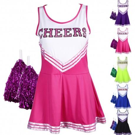 Costume cheerleader - Uniforme Pom Pom Girl