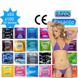Pack préservatif mix - 25 sortes Durex & Pasante