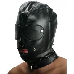 Cagoule Hardcore en cuir - BDSM