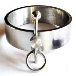 Collier BDSM de posture métal - De Luxe