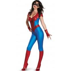 Costume combinaison spider woman femme sexy