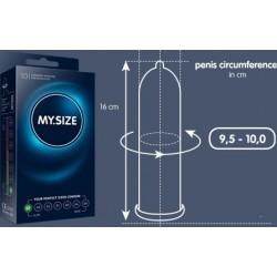 My.Size - Préservatifs s'adapte à la taille du pénis - 7 tailles