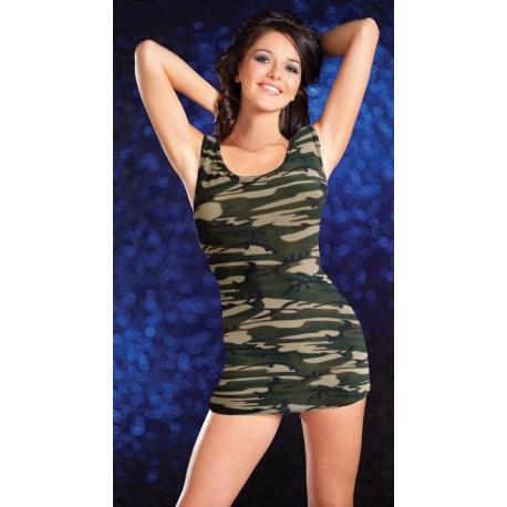 Robe sexy camouflage treillis militaire