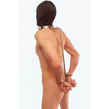 Hold the line - Collier contrainte de position avec crochet anal BDSM