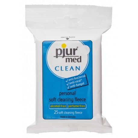 Pjur Med - 25 Lingettes désinfectantes - Sans alcool