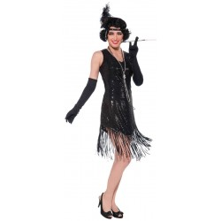 Costume Charleston Strass Complet