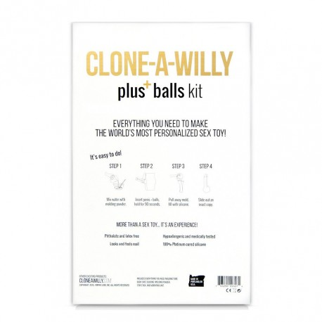 Clone a willy kit moulage - Moule ton pénis et tes testicules