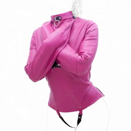 Camisole de force rose pour jeux de soumission SM