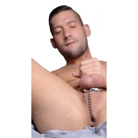 Plug anal avec chaîne et anneau