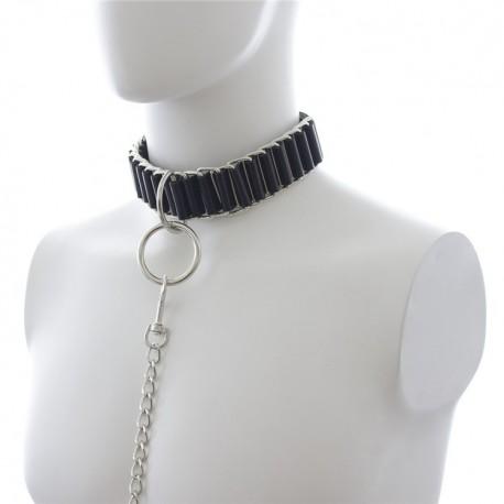 Collier BDSM Soumission : The Loop - Cuir et métal