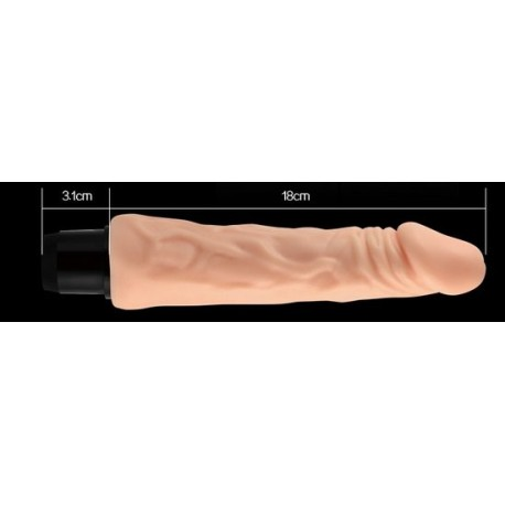 Vibromasseur réaliste - 18 cm - warterproof
