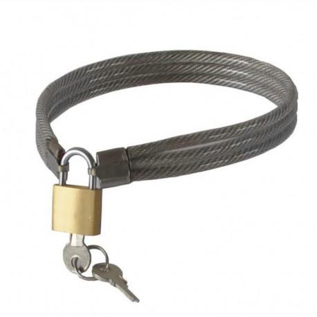 Collier SM de soumise en cable de métal tressé