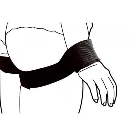 Contraintes Bondage Menottes : Bras le long du corps