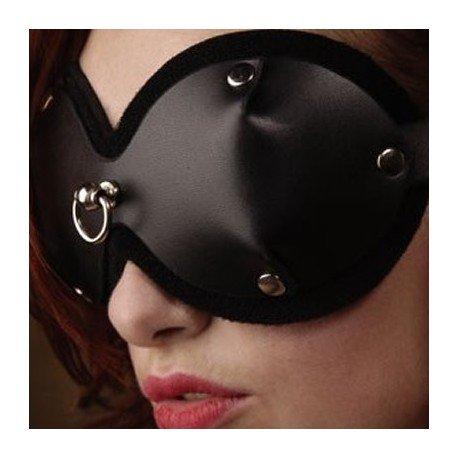 Loup - Masque BDSM en cuir avec anneau sur le devant