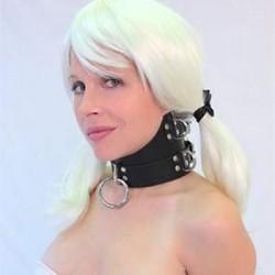 Haut col BDSM - Collier en cuir soumission