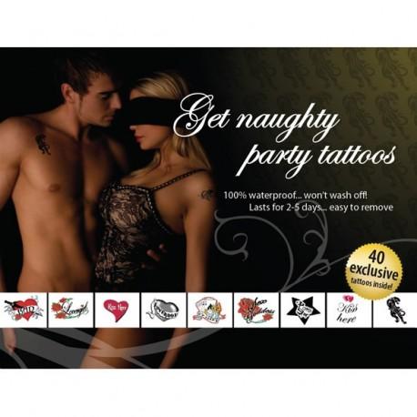 Tatouages Temporaires Sexy - Mixte pour soirées HOT !