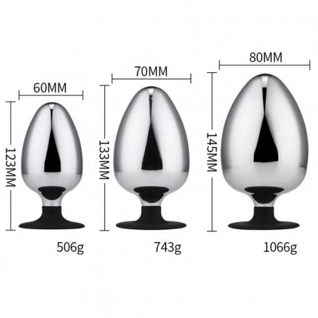 Gros plug anal en aluminium XL