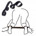 Attache poignets / chevilles, bande nylon avec velcro pour position sexuelle